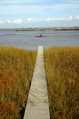 Boardwalk Path To Kayaking