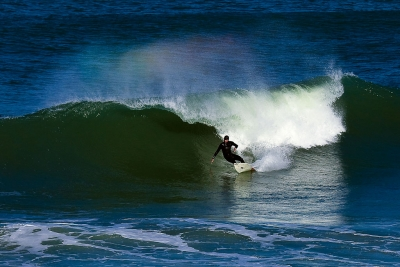Surfing The Outer Banks With Rainbow
