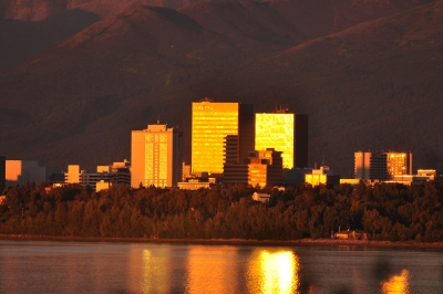Anchorage At Sunset