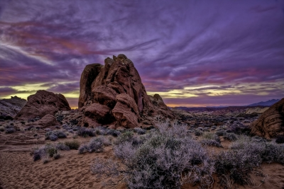 Stormy Sunset At Rainbow Vista In Valley Of Fire Nevada