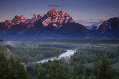 Morning Colors Over The Tetons