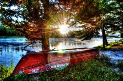 Backlit Boat