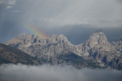 Tetons With A Rainbow