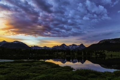 Sunrise On Molas Lake
