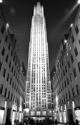 Rockefeller Center Bw