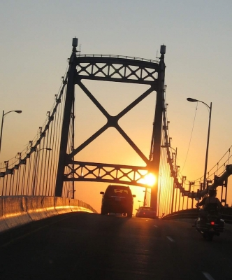 Sunset On The Anthony Wayne Bridge