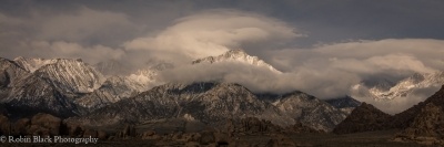 Clearing Storm And Morning Light Over Lone Pine Peak