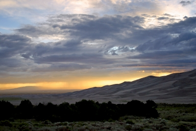 Great Sand Dunes Stormy Sunset