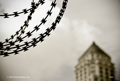 Barbed Wire W/ Courthouse