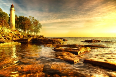 A Golden Morning On Lake Huron