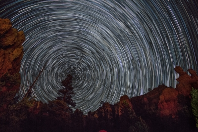 Red Canyon Star Trail