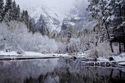 Winter, Cathedral Beach (yosemite)
