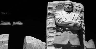 Mlk Monument [black And White]