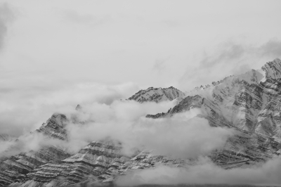 Cloud Attack On Snowy Mountain