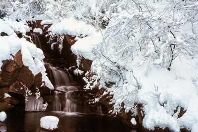 Snow-covered Waterfall