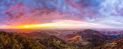 Mount Diablo Sunset Panorama