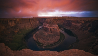 Storm Approaching At Horse Shoe Bend
