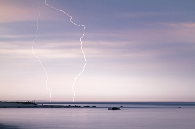 Lightning Over Lake Michigan