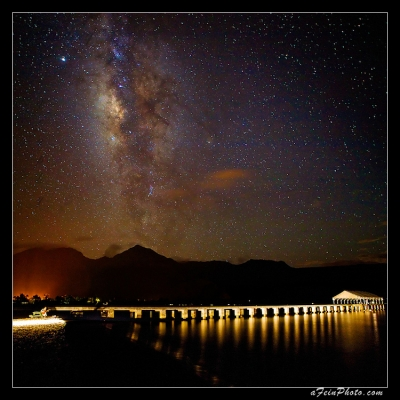 Milky Way Over Hanalei Pier