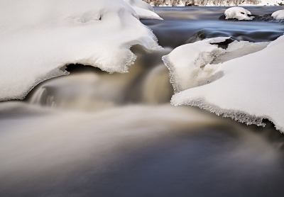 River In Winter Time
