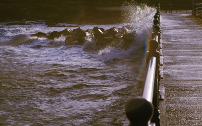 Crossing The Jetty