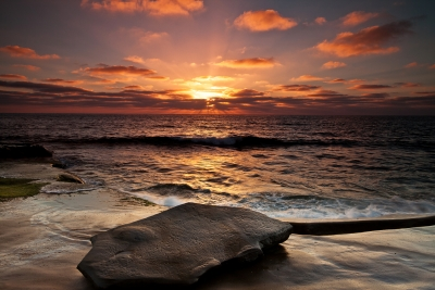 Sunset Of La Jolla Beach