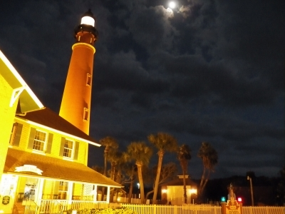 Moon Over Ponce Inlet Lighthouse