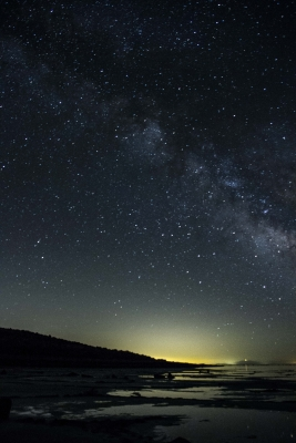 Milky Way As Seen Rom The Great Salt Lake
