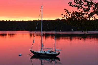 Sunrise At Quahog Bay, Maine