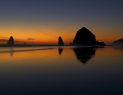 Haystack Rock Twilight