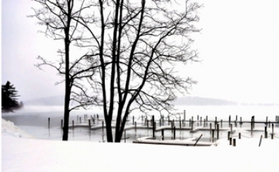 Winter Dock Scene