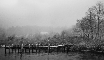 Snow Covered Pier