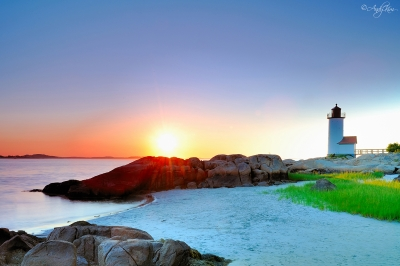 Sunset At  Annisquam Lighthouse