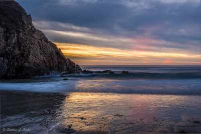 "Pfieffer Beach ""blue Hour"""