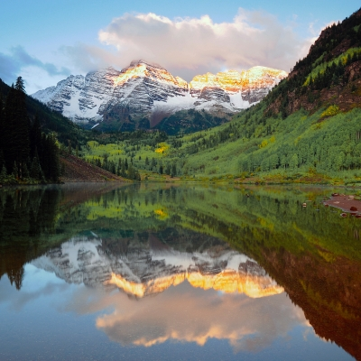 Alpenglow Over The Maroon Bells