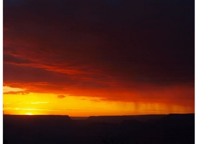 Sunset Over The Grand Canyon's South Rim