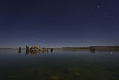 Mono Lake, South Tufa Islands By Moonlight