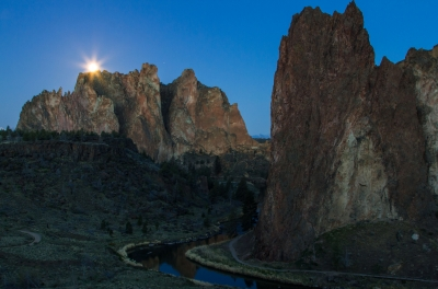 Mooning Smith Rock