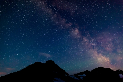Milky Way From Hidden Lake Overlook