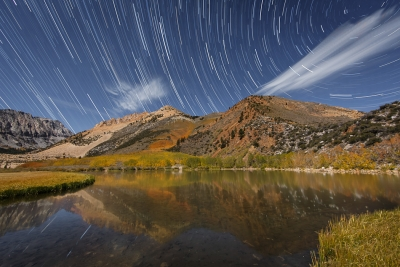 Eastern Sierra Fall Colors At Night