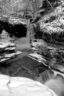 Adams Falls In Winter