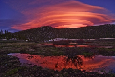 Lenticular Clouds And Horseshoe Meadow