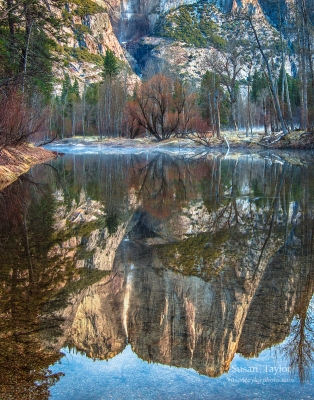 Yosemite Falls Spring Reflection