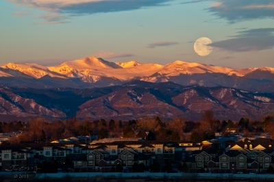 Moonset Over Mt. Evans