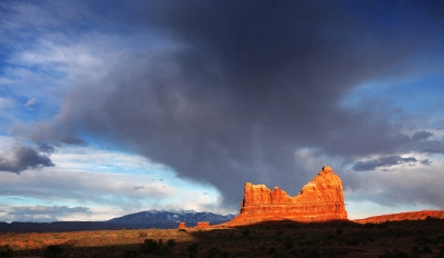 Arches National Prk At Sunset.
