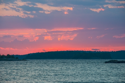 Sunset On Lake Huron In Thessalon, Canada