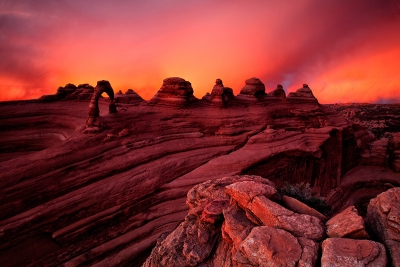 Sunset, Delicate Arch, Arches National Park