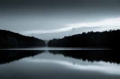 Stone Mountain Lake (duo-tone)