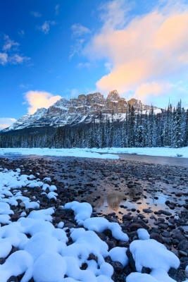 Castle Mountain And The Bow River