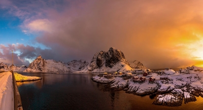 Colorful Sunrise In Hamnoy